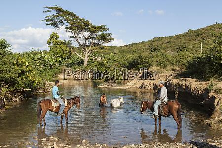 cuba trinidad a horseman cools his
