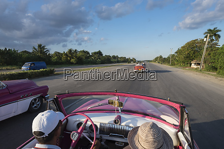 cuba driving the roads outside of