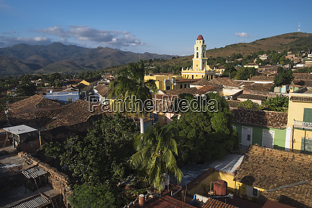 cuba trinidad rooftop view of the