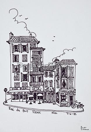 rue du vieux port in old