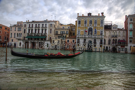 gondolas along the canals of venice