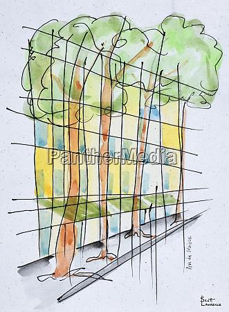 abstract parisian street paris france