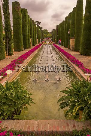 spain cordoba alcazar gardens and pool