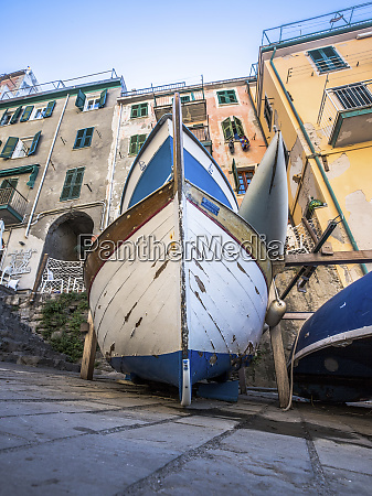 wooden handcrafted boats of riomaggiore