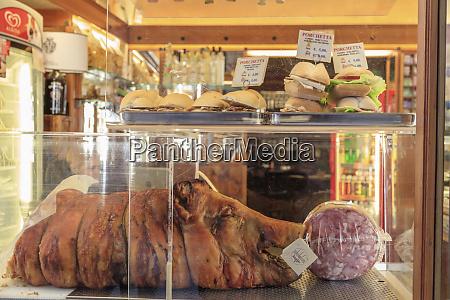 italy san gimignano store window of
