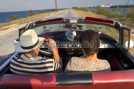couple enjoying a nice ride in