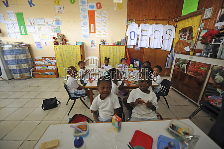 dominica roseau preschool ccf children having