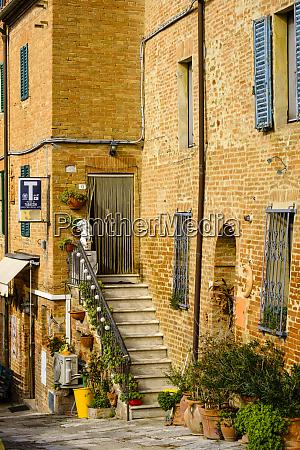 italy tuscany brick building doorway