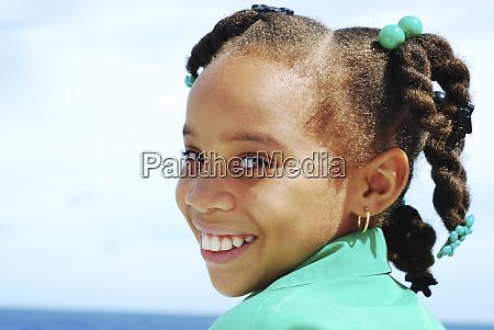 dominica roseau portrait of schoolgirl with