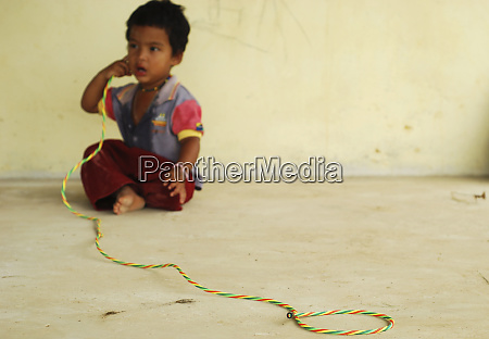 dominica carib territory little boy with