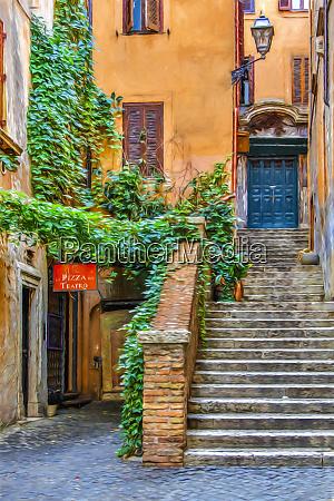 italy rome street in rome