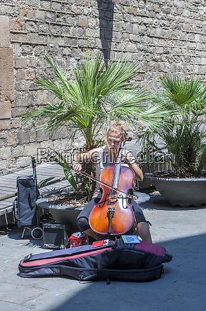 europe spain barcelona street musician