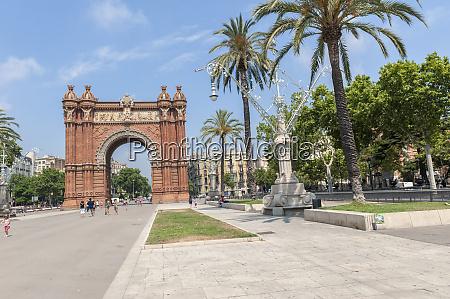 europe spain barcelona arc de triomf
