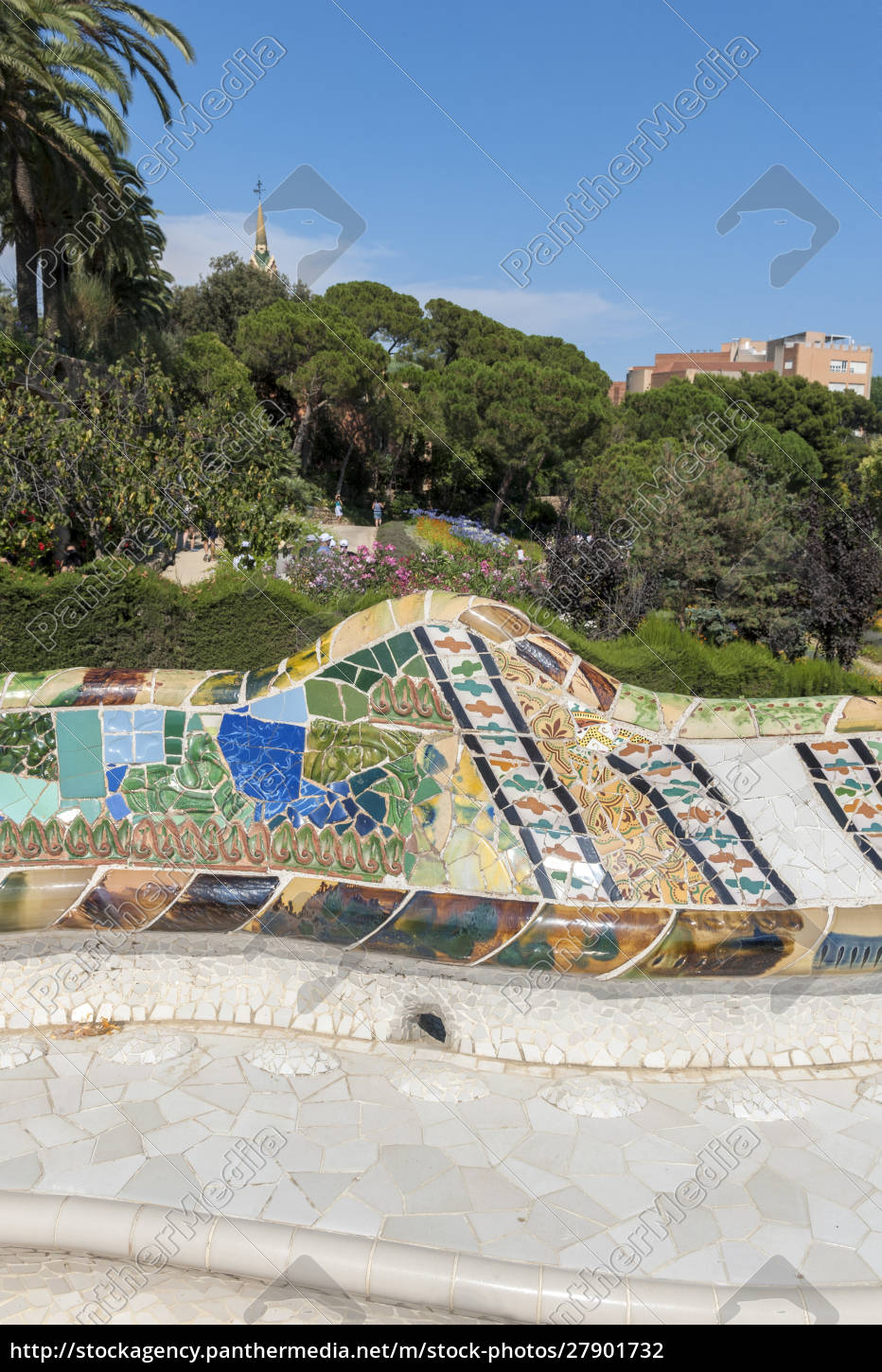 europe, , spain, , barcelona, , park, guell - 27901732