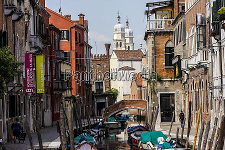 venice italy venetian neighborhood with a