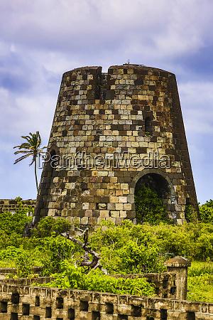 st kitts caribbean sugar cane windmill