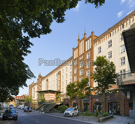 the buildings at the lange strasse
