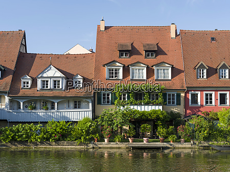 old fishermens houses on the river