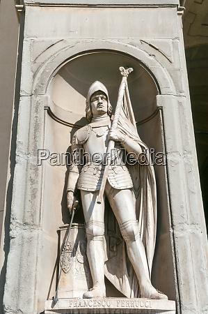 statue of francesco ferrucci uffizi gallery