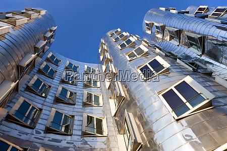 the neuer zollhof building by frank