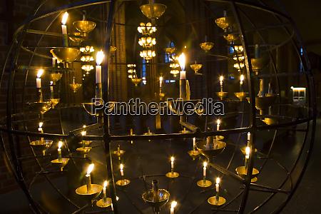 candelabra in the storkyrkoboden church gamla