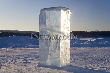block of ice northern sweden