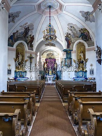 old ornate german church interior