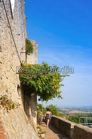 medieval fortress capalbio grosseto province tuscany