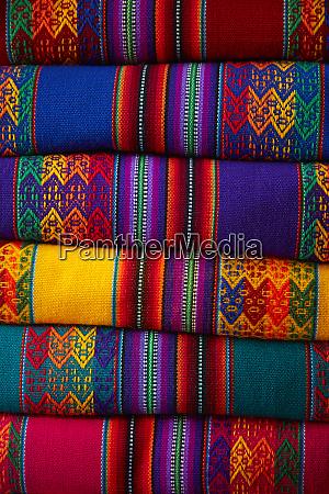 colorful cloth cusco peru