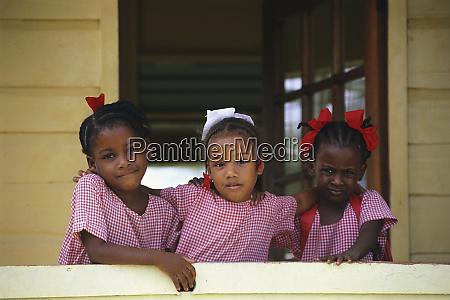 three young girls trinidad and tobago