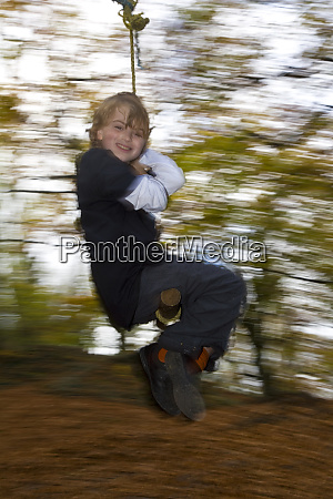 9 year old boy on swing