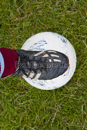 under 8 football player boot and