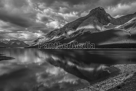 a tranquil dawn in spray lakes