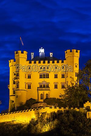 germany bavaria hohenschwangau schloss hohenschwangau castle