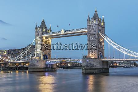 uk london twilight tower bridge