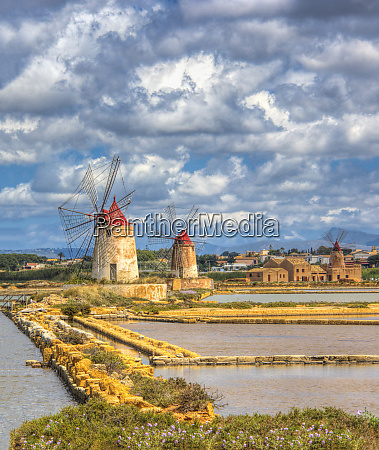 italy sicily trapani salt pans and