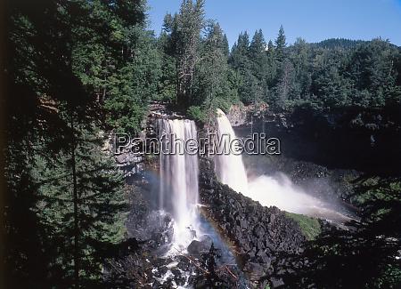 canada british columbia canim falls at