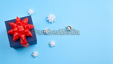 dark blue cardboard gift square box
