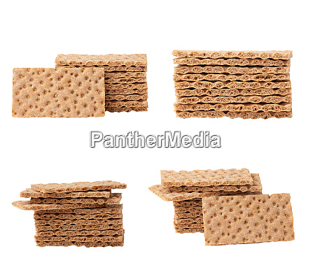 stack of rectangular snack bars isolated