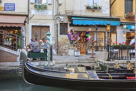 gondoliers take a rest venice italy