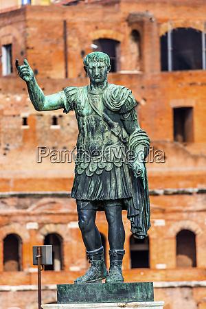 august caesar bronze statue trajan market