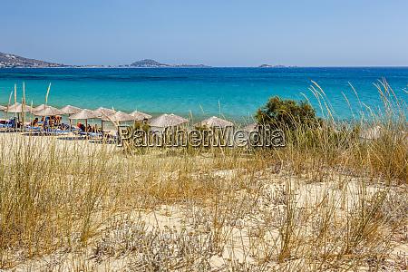 beach in naxos island greece