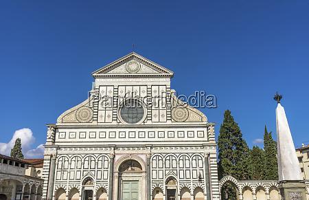 facade of santa maria novella church