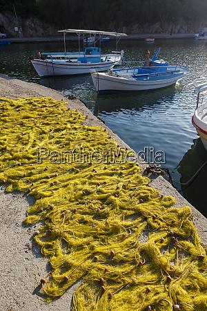 fishing boats chios island greece