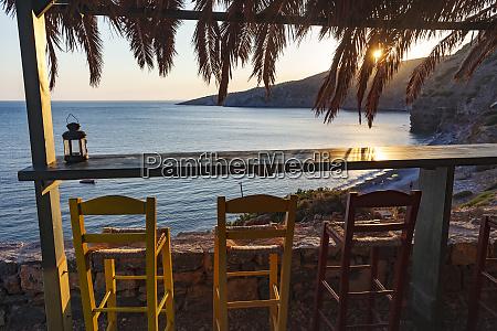 chios island greece seaside bar