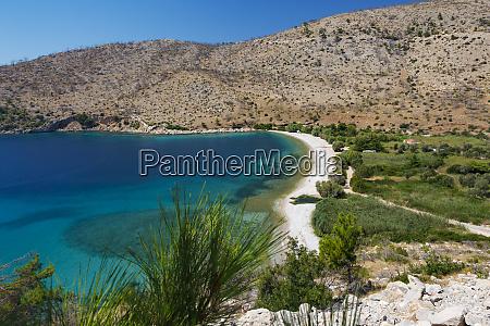 elinda beach chios island greece