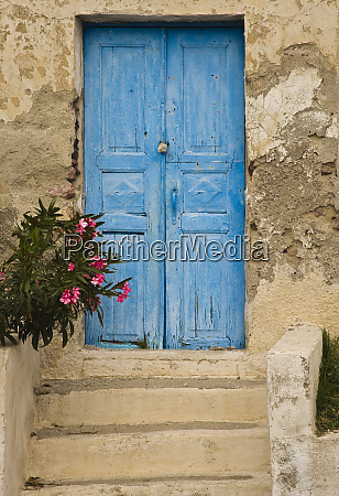 greece old house door blue