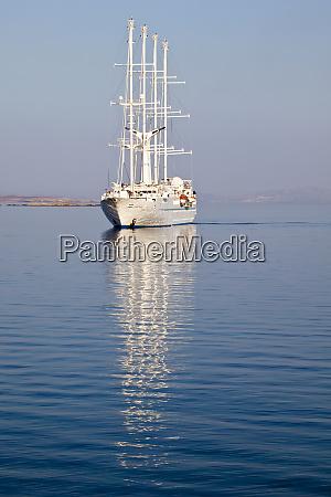 greece mykonos sailing boat