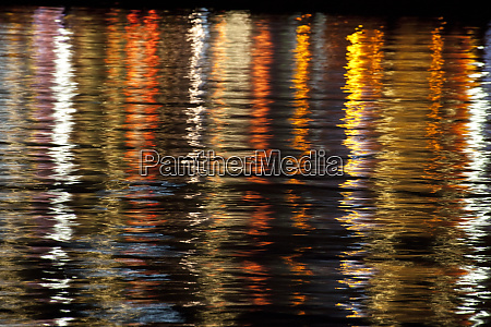 greece crete chania reflections of buildings