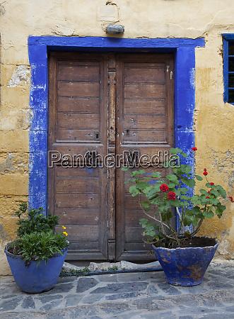 greece crete chania doorway
